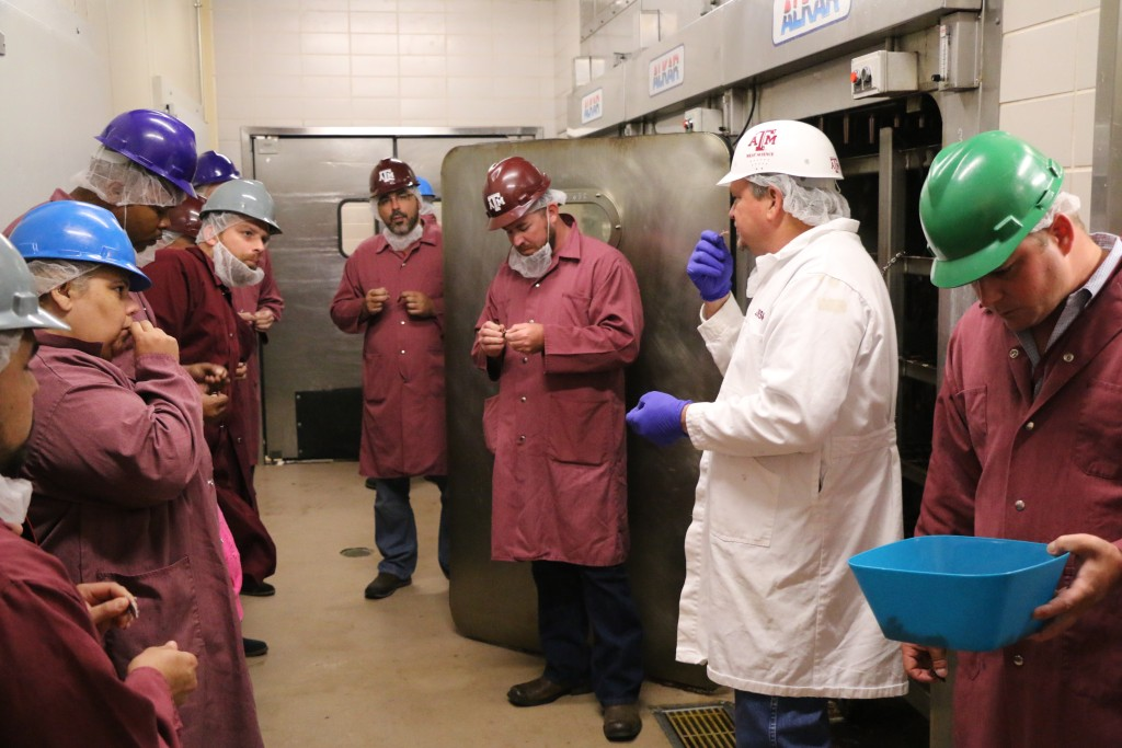 Ray Riley talking about beef jerky production