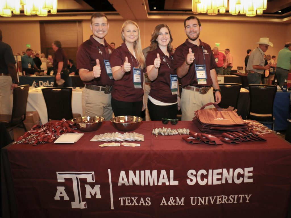 Bo Garcia, Micki Gooch, Clay Eastwood, and Drew Cassens at the Southwest Meat Association Convention and Suppliers Showcase