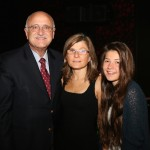Jeff Savell, Antonella Dalle Zotte, and her daughter Fabia